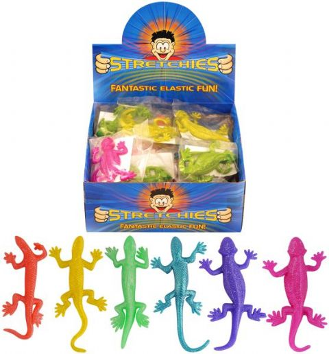 96 x Stretchy Lizards - Stretchies Party Bag Fillers Favours Toys - Wholesale Bulk Buy